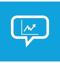 Rising graphic message icon vector