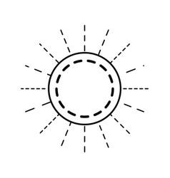 Round linear emblem decoration empty vector