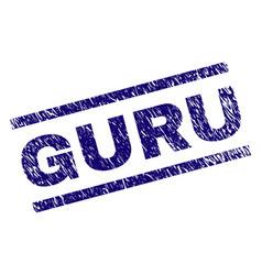Scratched textured guru stamp seal vector