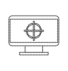 screen monitor with tag design graphic element vector image