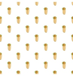 Shawarma pattern cartoon style vector image