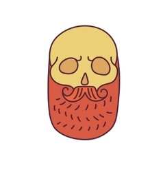 Skull with Hipster mustache and beards vector