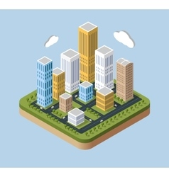 Skyscrapers and buildings vector image