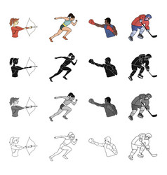 sports competition girl and other web icon in vector image vector image