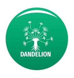 Spring dandelion logo icon green vector