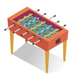 table-top soccer or foosball kicker football vector image
