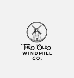 the old wind mill company abstract sign vector image