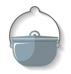 Tourist cauldron icon isolated vector