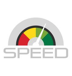 Trendy speedometer logo flat style vector