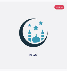 two color islam icon from religion concept vector image