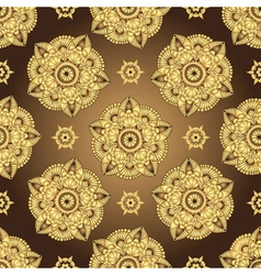 Vintage brown seamless pattern vector