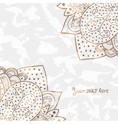 Vintage invitation corners on grunge background vector