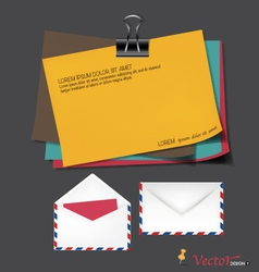 Vintage papers ready for your message vector image