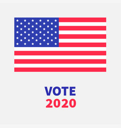 vote 2020 president election day voting concept vector image