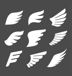 whate wings icons vector image