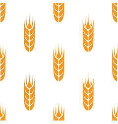 Wheat seamless pattern vector