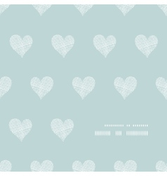 White lace hearts textile texture frame corner vector image