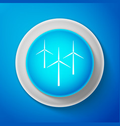 white wind turbine icon wind generator sign vector image