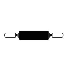 wooden roller isolated icon vector image