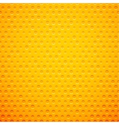 Yellow metal or plastic texture with holes vector image