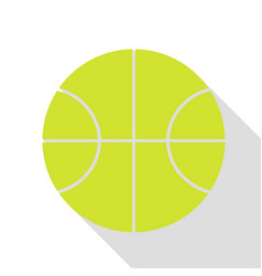 basketball ball sign pear icon with vector image vector image