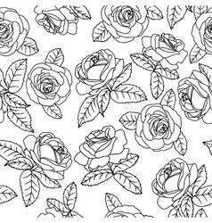 black outline roses vector image