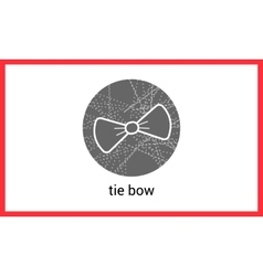 Bow tie outline contour vector image vector image