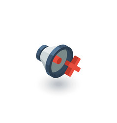 speaker mute isometric flat icon 3d vector image vector image