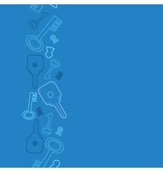 Blue keys vertical seamless pattern background vector image