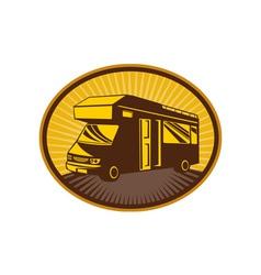 Camper vancaravan or mobile home vector image