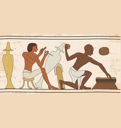 egyptian national drawing vector image