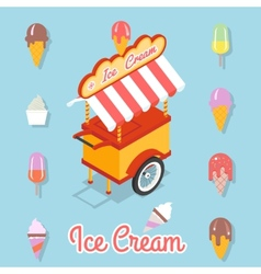 Flat ice cream vector image vector image