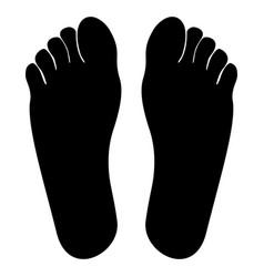 Footprint heel black color icon vector