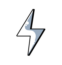 line energy hazard symbol design image vector image vector image