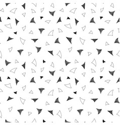 retro seamless pattern in memphis style vector image