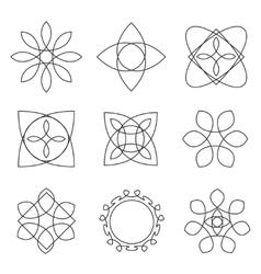 Set of trendy geometric shapes hipster frames vector image vector image