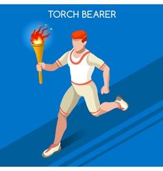 Torchbearer 2016 Summer Games 3D Isometric vector image vector image