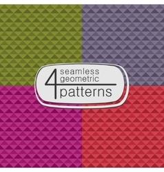 4 geometric seamless patterns vector image
