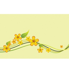 beautiful with yellow flowers vector image vector image