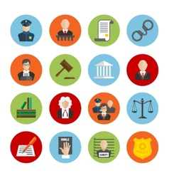 Law Flat Icons vector image vector image