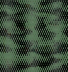 Octagon camouflage seamless pattern green black vector image vector image