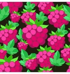 pattern of raspberries on background vector image