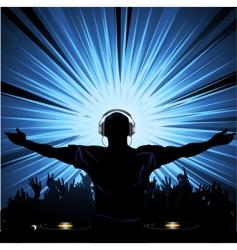 dj party vector image vector image