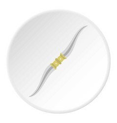 throwing knife icon circle vector image vector image