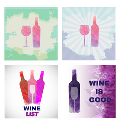 wine tasting card set vector image vector image