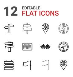 12 destination icons vector