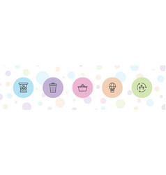 5 basket icons vector