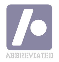 Abbreviated conceptual graphic icon vector