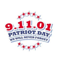 America patriot day - september 11 2001 logo vector
