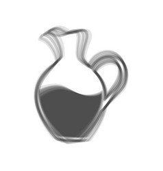 amphora sign gray icon shaked at white vector image